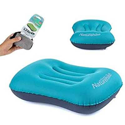 Naturehike Aeros Portable Inflatable Pillow turquoise blue