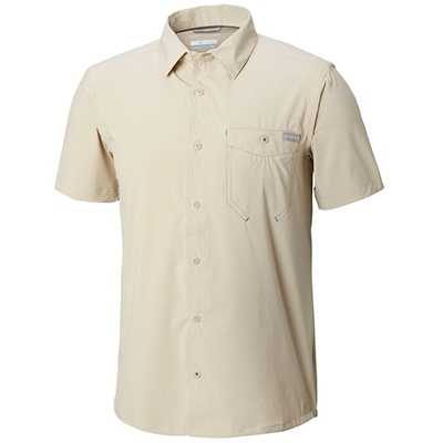 Columbia Triple Canyon Solid Short Sleeve Shirt S fossil