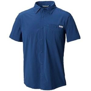 Columbia Triple Canyon Solid Short Sleeve Shirt XL carbon