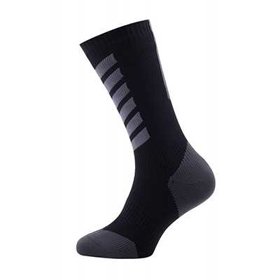 Sealskinz MTB Mid Mid with Hydrostop Socks L anthracite charcoal black