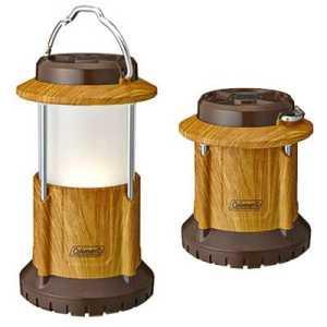 Coleman Batterylock Led Packaway Lantern natural wood