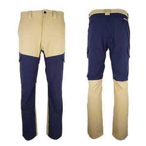 Monmaria Imbak R Pants 32 navy blue beige