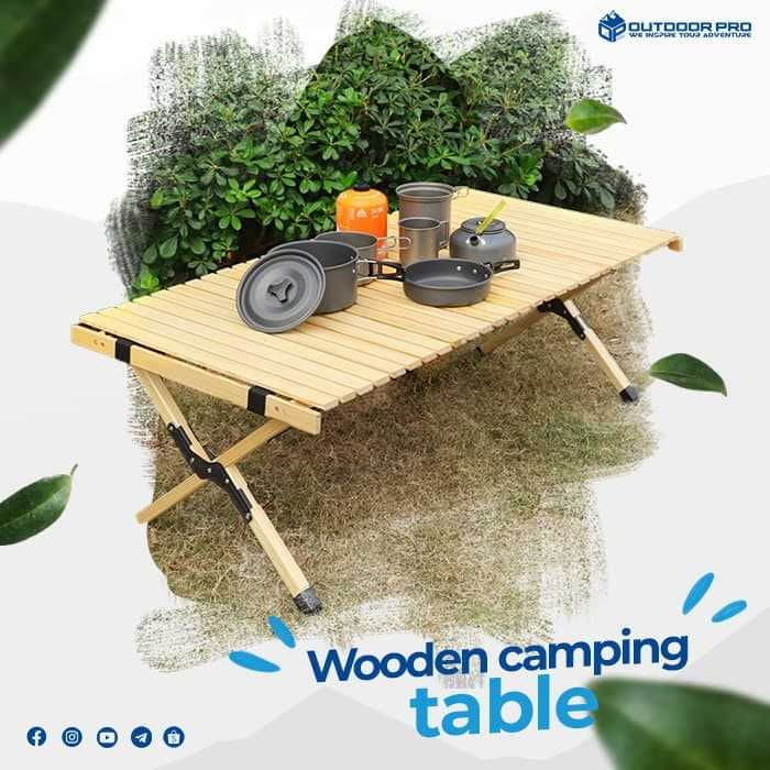 Wooden Folding Camp Table