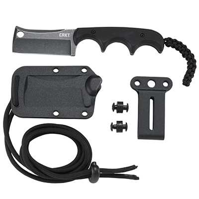 CRKT Minimalist Cleaver Blackout with G-10 Handle Design By Alan Folts