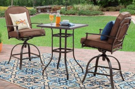 tall outdoor bistro sets