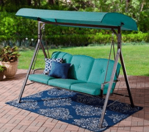 forest hills outdoor swing with cushions