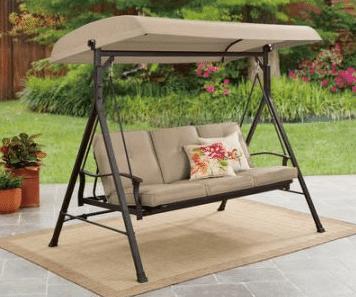 belden park 3 person futon patio swing