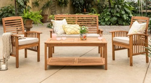 outdoor wooden patio furniture sets