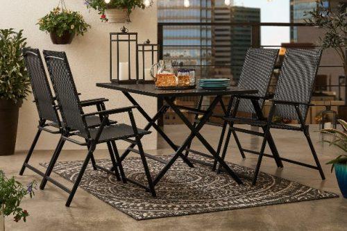 folding patio furniture dining sets