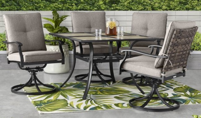 elmdale dining patio set for four