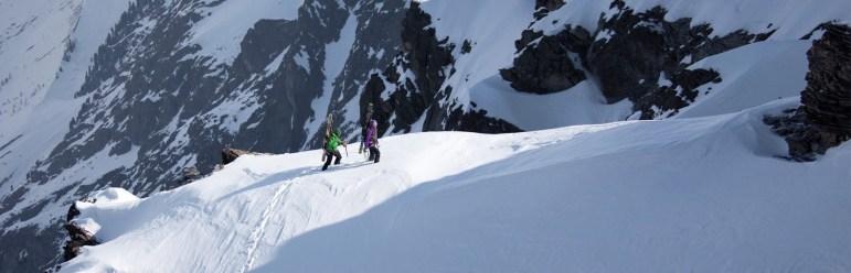 (c) Klaus Kranebitter fotografiert die Skibergsteiger im Aufstieg