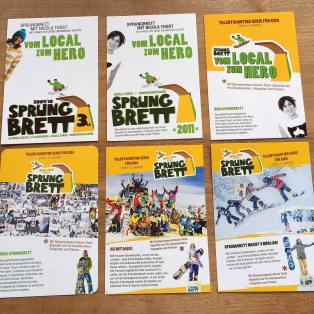 Nach der Karriere: Kinder lernen Snowboarden: Sprungbrett-Flyer von Nicola Thost