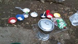 Breakfast Trail Crew Set up