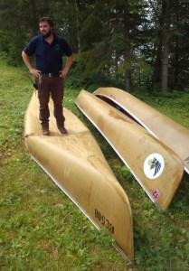 Busted Kevlar Canoe