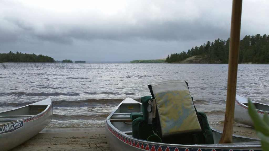 The storm approached before heading out. - Boundary Waters Camping