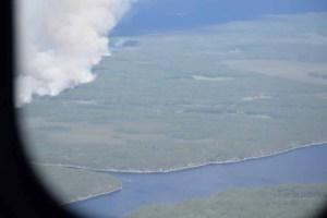 Fire in Atakaki Near Gammon River