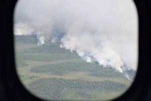 Fire in Atakaki from Float Plane