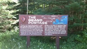 Grand Portage Route Sign