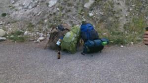 Backpacks before the trip Montana