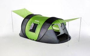 Cinch pop up tent