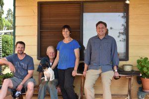 Family on the verandah.