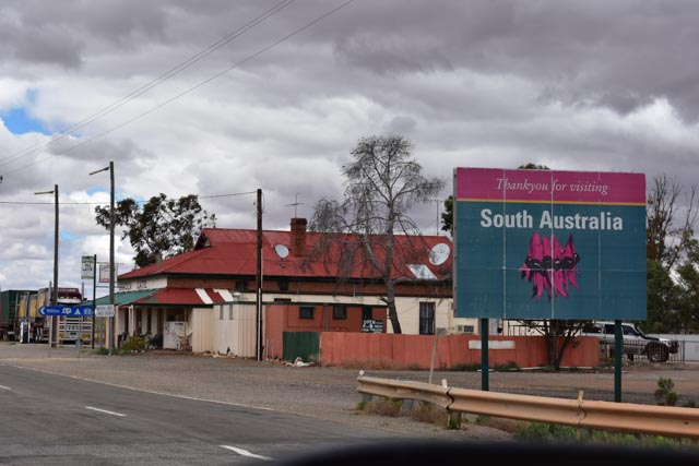 The leaving South Australia sign.