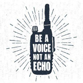 Be a voice. Not an echo.