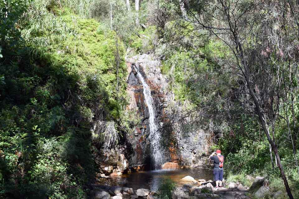 The second waterfall at Waterfall Gully