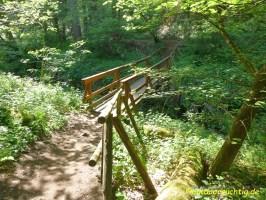 Eine Brücke in der Wolfsschlucht
