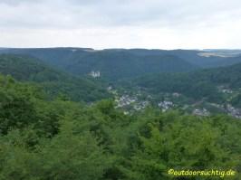 Blick auf Kloster Arnstein vom Goethepunkt