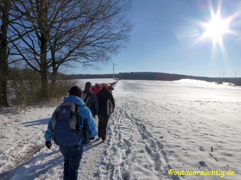 Aufbruch Richtung Aussichtsturm Alpenrod