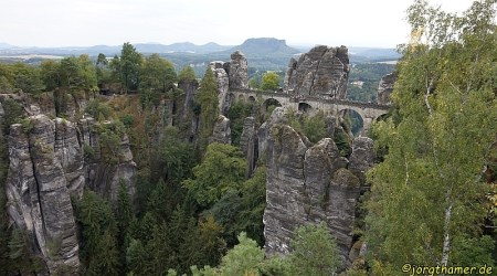 Die Basteibrücke, ein beliebtes Ausflugsziel
