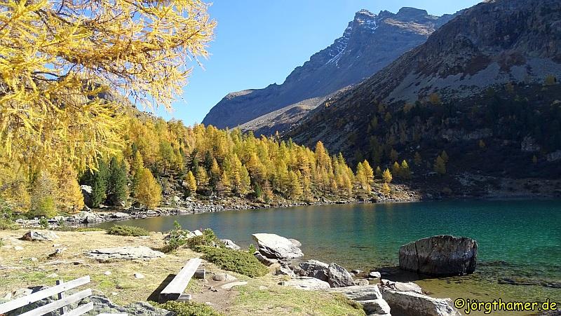 Der Lagh da Val Viola liegt im südlichsten Zipfel des Kantons Graubünden