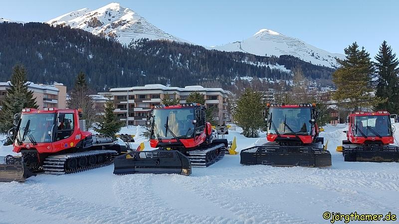Loipen in Davos - Loipenraupen