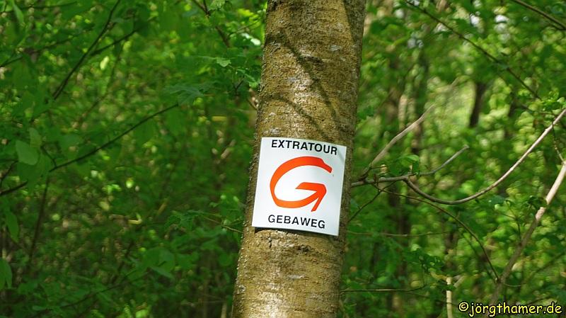 Wegmarkierung Extratour Gebaweg