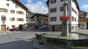 Via Spluga Etappe 2 - Dorfplatz Andeer
