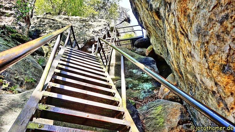 Treppe am Malerweg