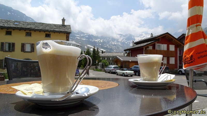 Cappuccino in Montespluga