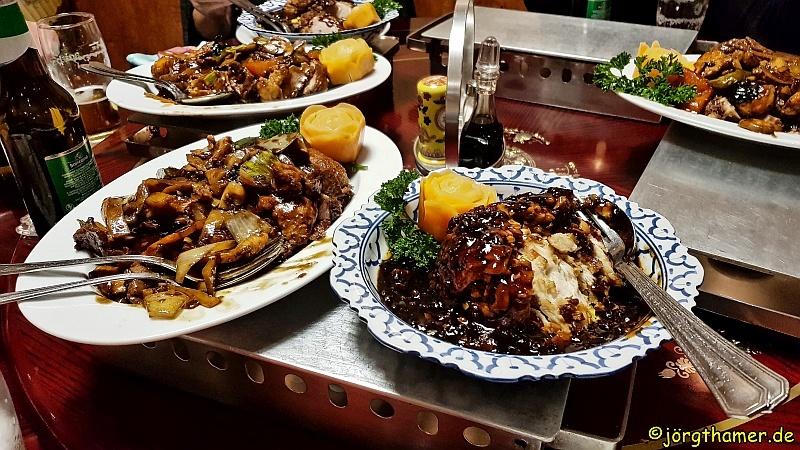 Asiatisch essen im Jin Li Lai