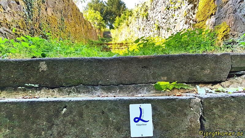 Küppeltour Wegemarkierung an Treppe
