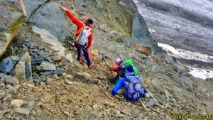 Scalettahorn - Gruppe in Schwierigkeiten
