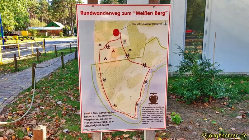 """Infotafel Rundwanderweg zum """"Weißen Berg"""""""
