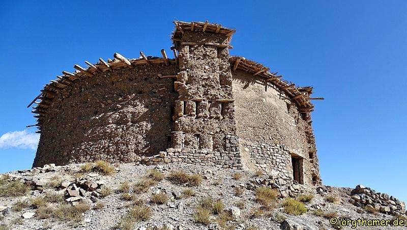 Der runde Kornspeicher auf  dem Sidi Moussa