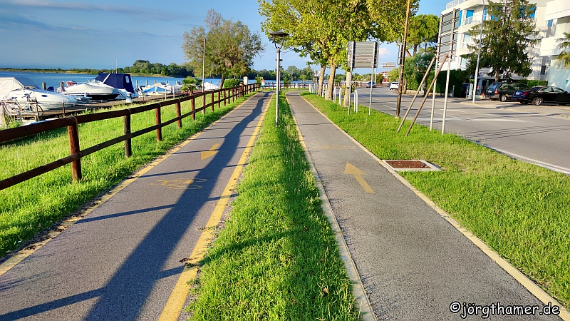 Radweg bei Grado