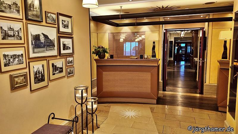 """Rezeption Hotel """"Die Sonne Frankenberg"""""""