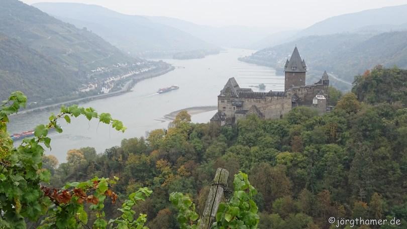 Wandern im Mittelrheintal - Burg Stahleck