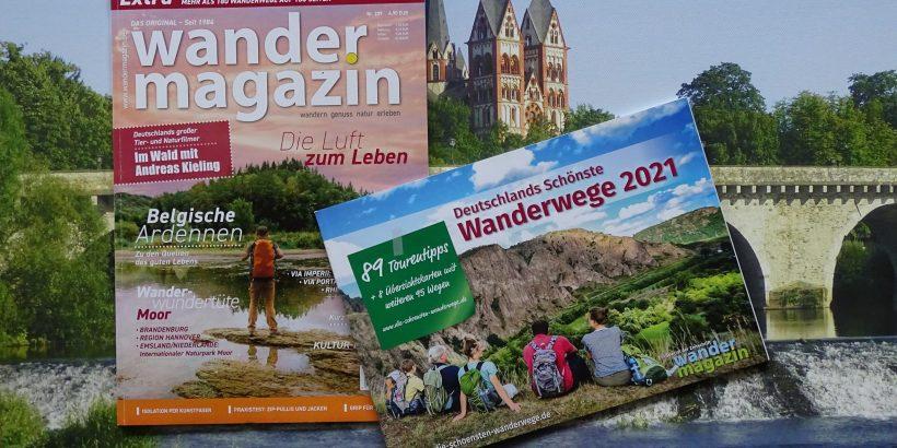 Wandermagazin Deutschlands schönste Wanderwege 2021