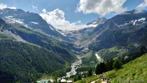 Blick auf den Gletscher des Piz Palü