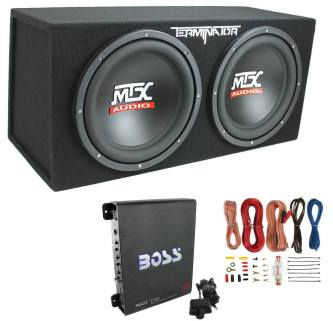 "MTX TNE212D 12"" 1200W Dual Loaded Car Subwoofers"