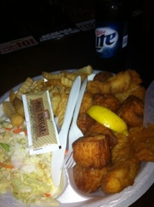 Huge Fried Scallops @ Sting Ray's